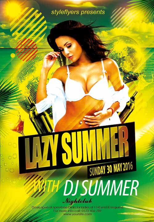 Download The Lazy Summer Party Free Flyer Template