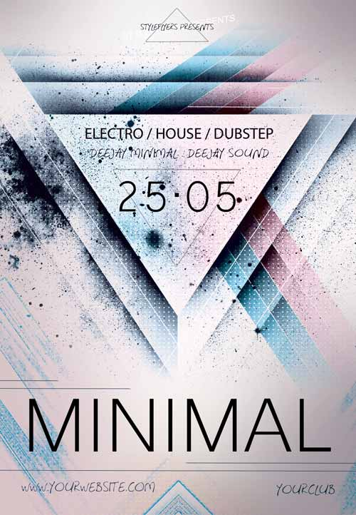 Download The Minimal Electro Free Flyer Template