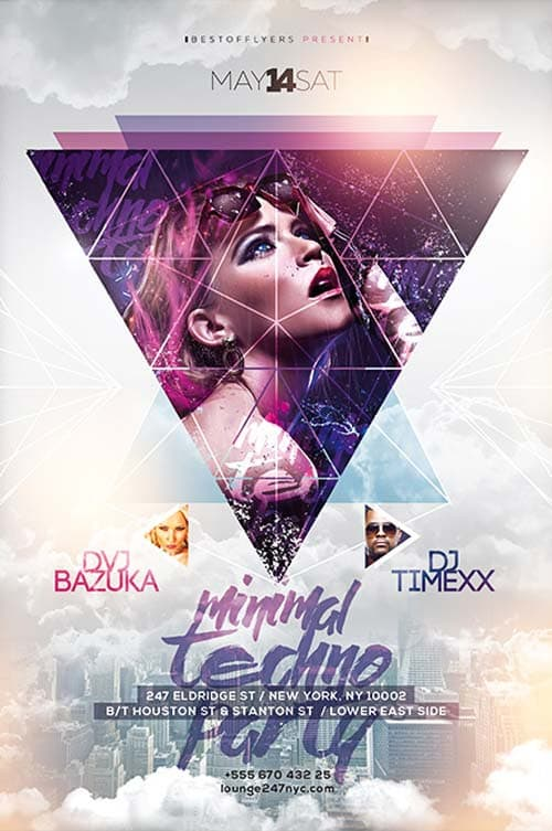 Home u00bb Free Electro Flyer u00bb Minimal Techno Free Flyer Template