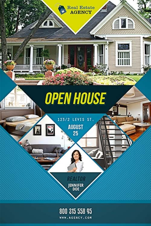 Download the best Free Real Estate Flyer Templates for Photoshop – Real Estate Open House Flyer Template