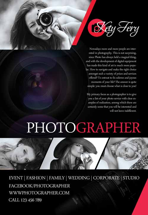 Photographer Free Flyer Template Download Business Flyer