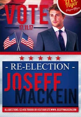 Political Vote Promotion Free Flyer Template