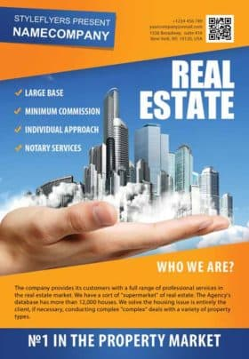 Real Estate Company Free Flyer Template