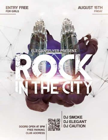Rock The City Free Flyer Template