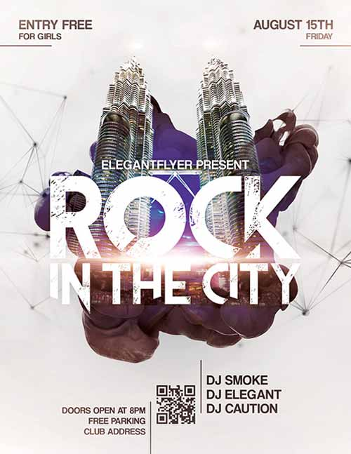 Freepsdflyer Download The Rock The City Free Flyer Template