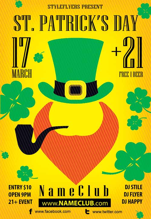 St. Patrick's Day Free Flyer Template