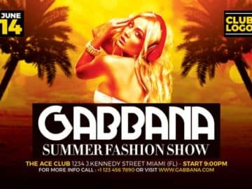 Summer Fashion Show Free Flyer Template