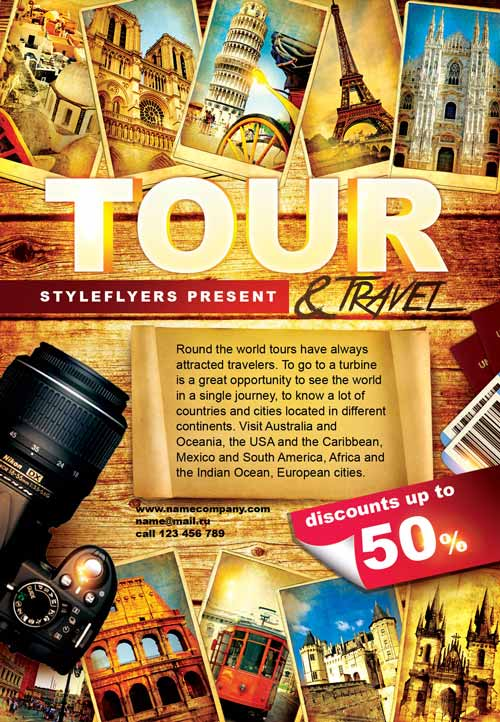 FreePSDFlyer Download The Tour And Travel Free Flyer Template - Tourism flyer template