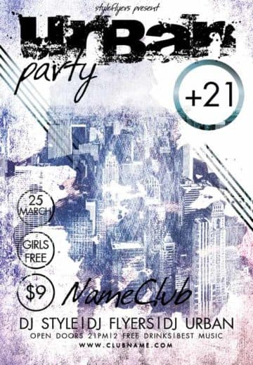 Urban Party Free Flyer Template
