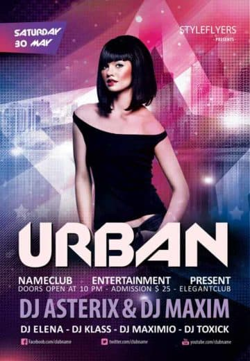 Urban Club Party Free Flyer Template