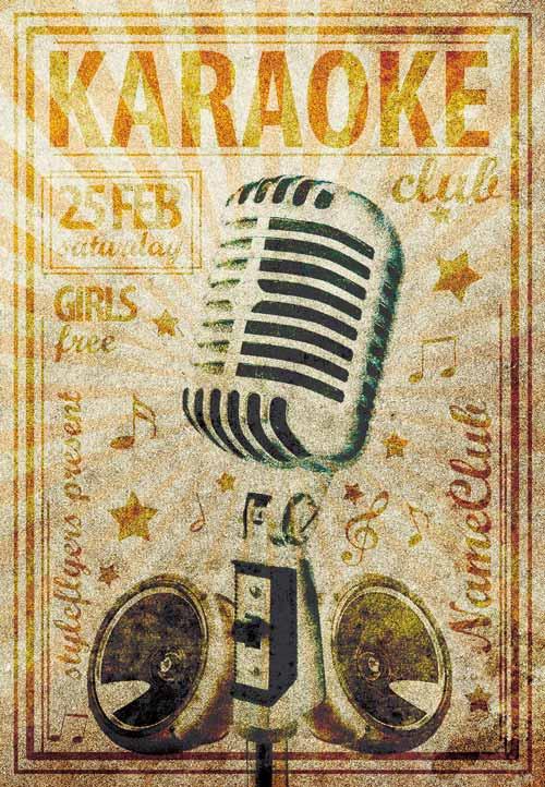 Karaoke Club Party Free Flyer Template
