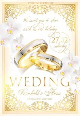 Wedding Celebration Free Flyer Template