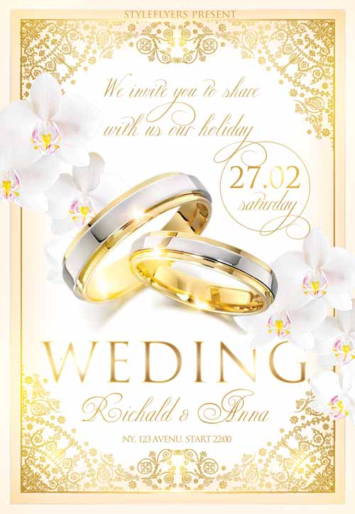 Freepsdflyer Download The Wedding Celebration Free Flyer Template