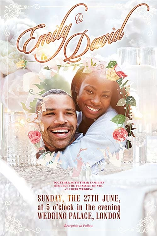 Wedding Event Free Flyer Template