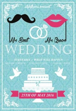 Lovely Wedding Free Flyer Template