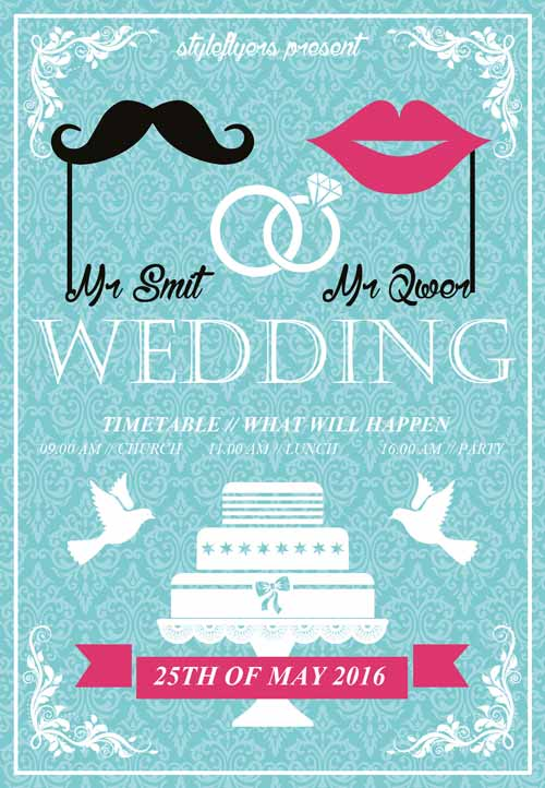 Download the Lovely Wedding Free Flyer Template