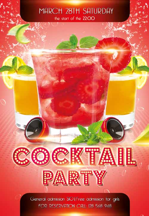 Cocktail Party Free Flyer Template