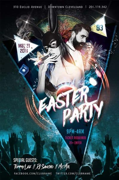 Easter Party Free Flyer Template