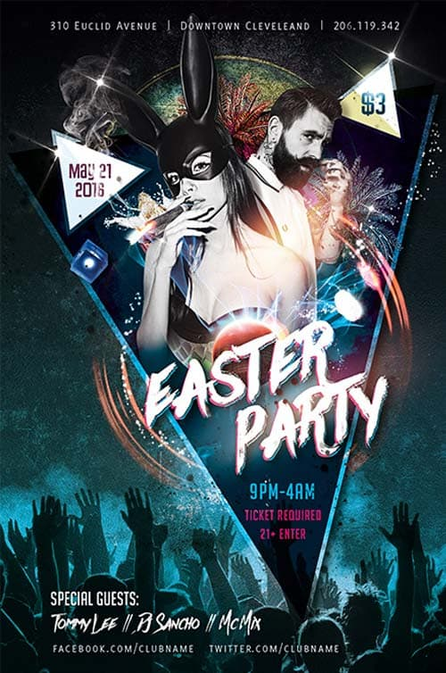 freepsdflyer easter party free flyer template download psd for