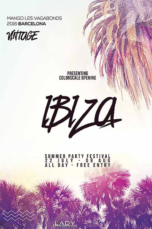 Download The Summer Electro Party Free Flyer Template
