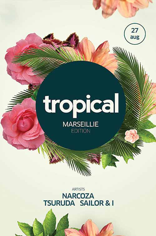 Download The Tropical Party Free Flyer Template