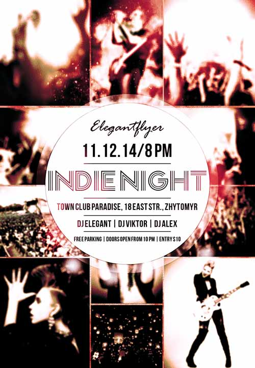 Indie Night Festival Free Flyer Template