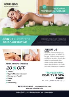 Massage and Health Free PSD Flyer Template