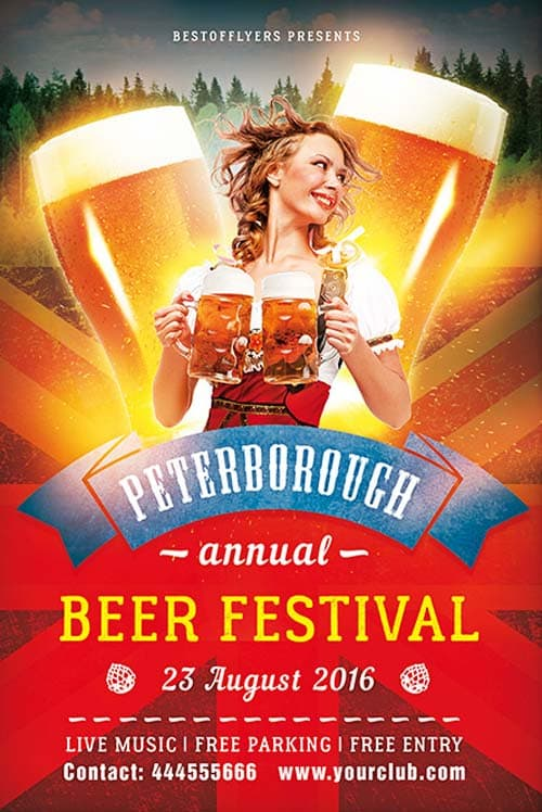 download the beer festival free flyer template for photoshop