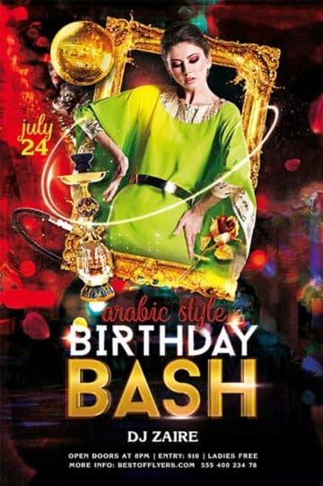 Birthday Bash Free Flyer Template