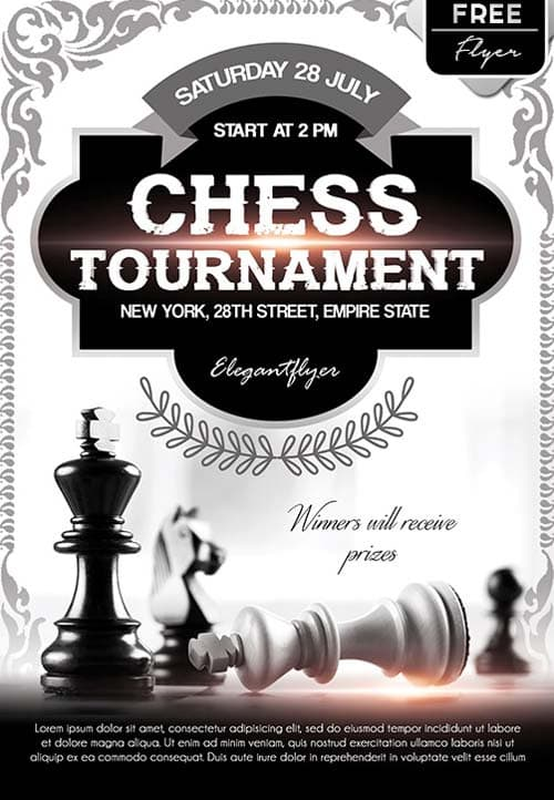 Chess Tournament Event Free Flyer Template