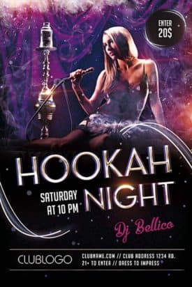 Hookah Night Lounge Free Flyer Template