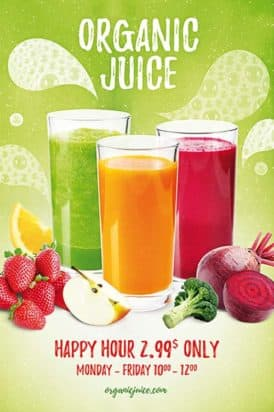 Organic Juice Free Flyer Template