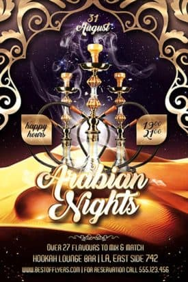 Arabian Nights Free PSD Flyer Template