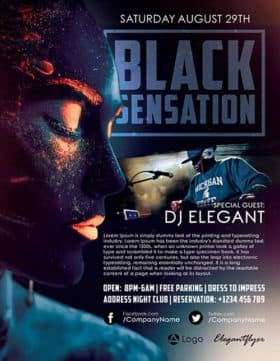 Black Sensation Free Flyer Template