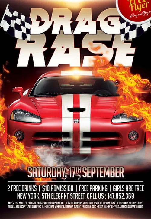 Drag Race Free Flyer Template