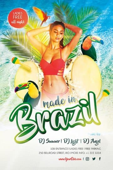 Made in Brazil Free PSD Flyer Template