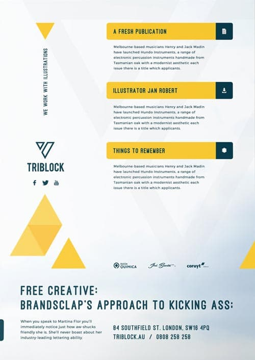 free business flyer modern corporate services free flyer template