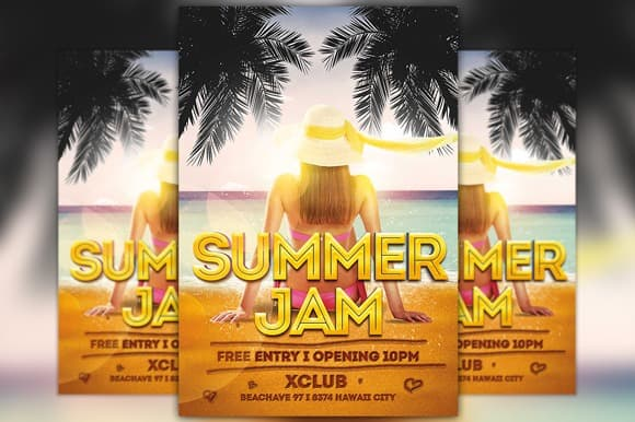 Summer Jam Free Flyer Template