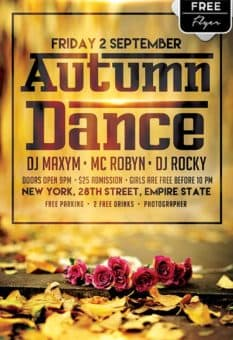 Autumn Dance Free Flyer Template