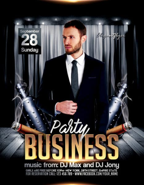 Business Party Free Flyer Template