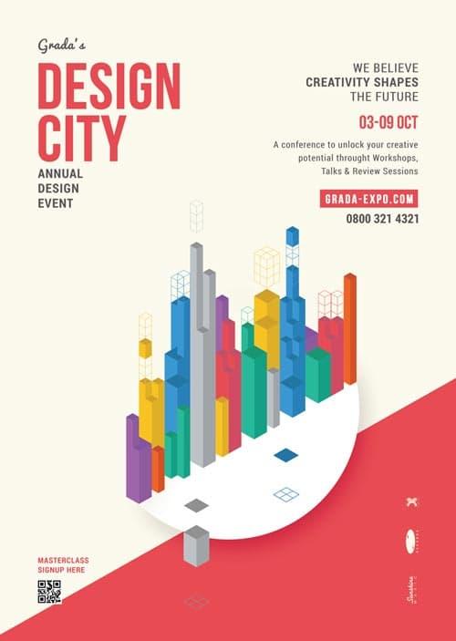 Design City Poster Free Flyer Template