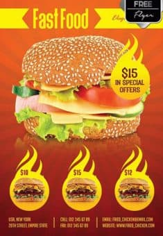 Fast Food Menu Free Flyer Template