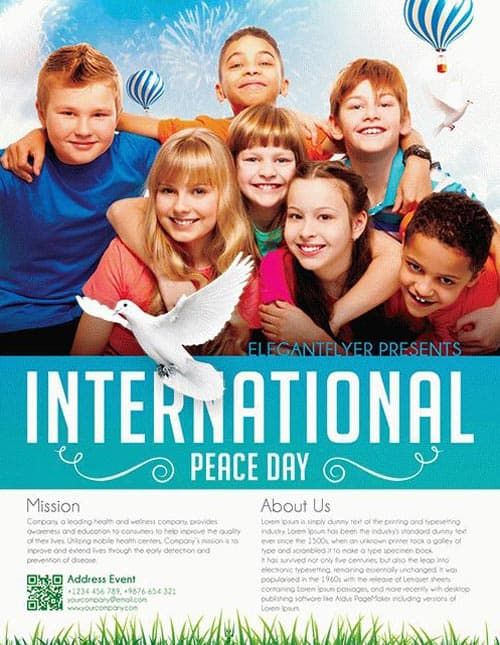 International Peace Day Free Flyer Template