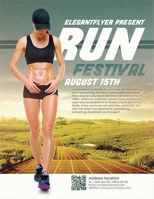 Freepsdflyer Download The Run Festival Free Flyer Template For
