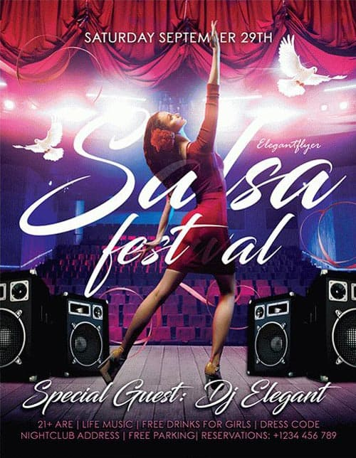 Salsa Festival Free Flyer Template