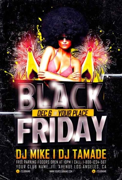 Black Friday Party Free Flyer Template
