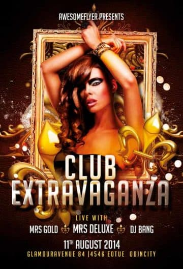 Club Extravaganza Free Flyer Template