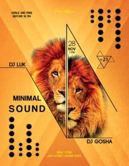 Animal Sound Free Flyer Template