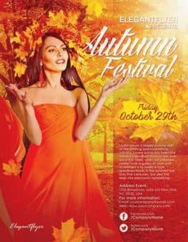 Autumn Festival Event Free Flyer Template