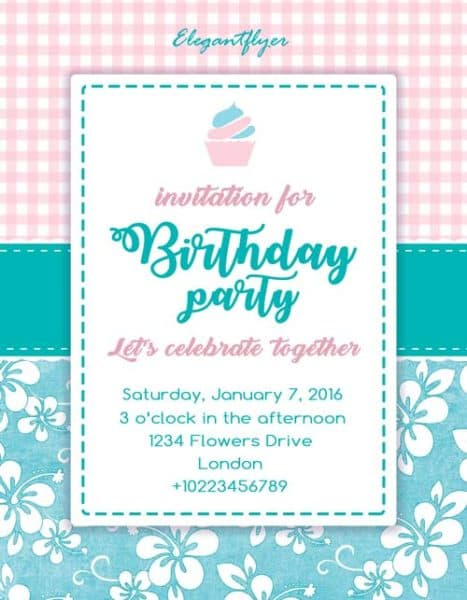 birthday party invitation free flyer template